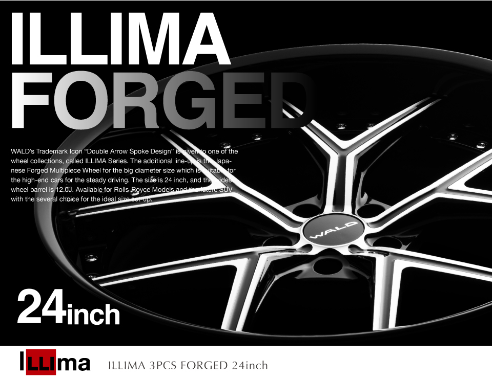 WHEEL : ILLIMA 3PCS FORGED 24inch