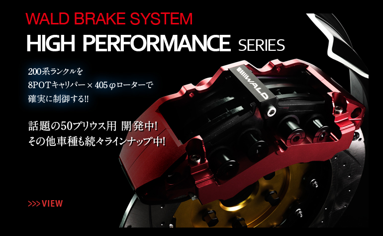 WALD BRAKE SYSTEM HIGH PERFORMANCE SERIES