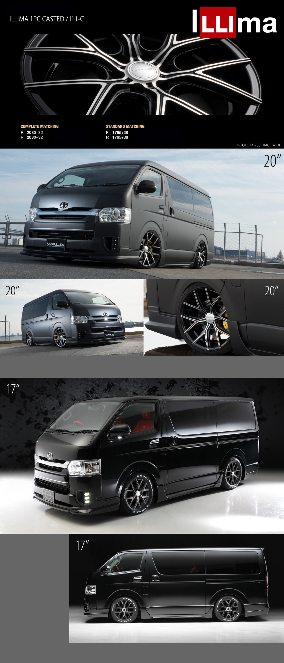 Wheel toyota hiace regius ace type iv executive line