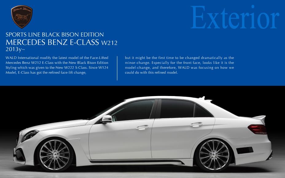 EXTERIOR - MERCEDES BENZ E-CLASS W212 BLACK BISON EDITION